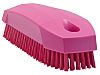 Vikan Pink 17mm PET Hard Scrubbing Brush for