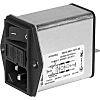 Schurter,6A,250 V ac Screw Mount Filtered IEC Connector