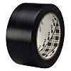 3M Black Polyvinyl Chloride Tape, 50mm x 33m