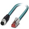 Phoenix Contact Blue PUR Cat5e Cable 3m Male
