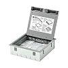 MK Electric Grey Floor Box, 3 Compartments 272