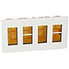 Legrand White 4 Gang Faceplates & Mounting Plates