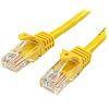 Startech Yellow PVC Cat5e Cable UTP, 500mm Male RJ-45