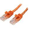 Startech Orange PVC Cat5e Cable UTP, 500mm Male