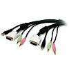 Startech 1.8m Male DVI, Male USB A, Male