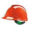 MSA Safety V-Gard 200 Orange Hard Hat, Ventilated