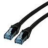 Roline Unshielded Cat6a Cable 300mm, Black, Male RJ45