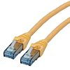 Roline Unshielded Cat6a Cable 500mm, Yellow, Male RJ45