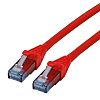 Roline Unshielded Cat6a Cable 3m, Red, Male RJ45