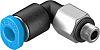 Festo Threaded-to-Tube Pneumatic Elbow Threaded-to-Tube Adapter