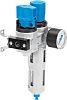 Festo G 1/4 Filter Regulator Lubricator, Manual Drain,