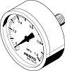 MA-40-1-G1/8-MPA pressure gauge