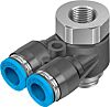 Festo Threaded-to-Tube Pneumatic Y Threaded-to-Tube Adapter, G